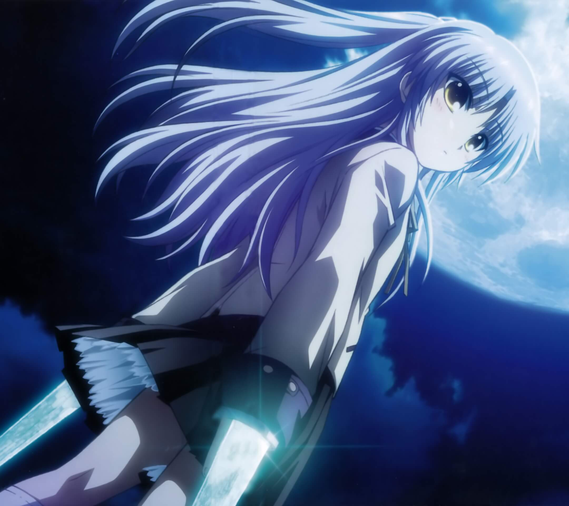 Angel Beats Kanade Tachibana.Android wallpaper 2160x1920