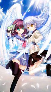 Angel Beats Yuri Nakamura Kanade Tachibana 2160x3840