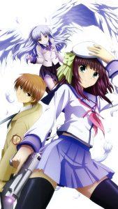 Angel Beats Yuri Nakamura Kanade Tachibana Yuzuru Otonashi 2160x3840