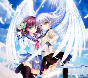 Angel Beats Yuri Nakamura Kanade Tachibana.Android wallpaper 2160x1920
