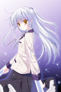 Angel Beats.320x480.Kanade Tachibana (Angel, Tenshi) (1)