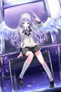 Angel Beats.320x480.Kanade Tachibana (Angel, Tenshi) (2)