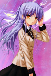 Angel Beats.320x480.Kanade Tachibana (Angel, Tenshi) (3)
