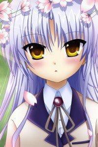 Angel Beats.320x480.Kanade Tachibana (Angel, Tenshi) (8)