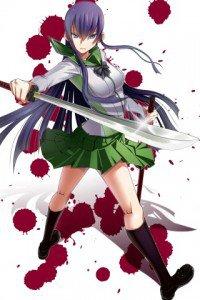 Highschool of the Dead.Gakuen Mokushiroku.320x480.Saeko Busujima