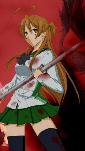 Highschool of the Dead.Gakuen Mokushiroku.360x640.Rei Miyamoto