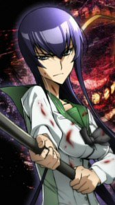 Highschool of the Dead.Gakuen Mokushiroku.360x640.Saeko Busujima
