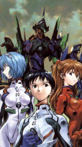Neon Genesis Evangelion.Asuka Langley Soryu.Shinji Ikari.Rei Ayanami.360x640