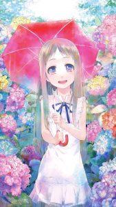 Ano Hi Mita Hana no Namae o Bokutachi wa Mada Shiranai Meiko Honma.iPhone 7 Plus wallpaper 1080x1920