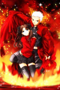 Fate-stay Night.Rin Tosaka.Archer.320x480