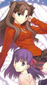 Fate-stay Night.Rin Tosaka.Sakura Mato.360x640