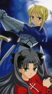 Fate-stay Night.Saber.Rin Tosaka.360x640