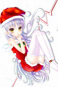 Merry Christmas.Angel Beats.640x960