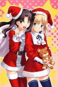 Merry Christmas.Fate-Stay Night.320x480