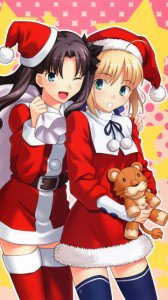 Merry Christmas.Fate-Stay Night.360x640