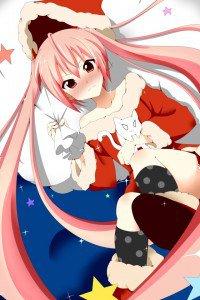 Merry Christmas.Hidan no Aria.640x960