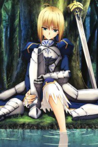 Fate-Zero.Saber (Arturia Pendragon).320x480