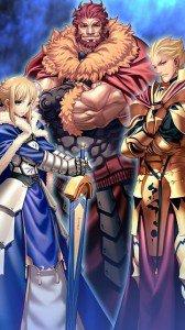 Fate-Zero.Saber (Arturia Pendragon).Rider (Iskander).Archer (Gilgamesh).360x640