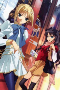 Fate-Zero.Saber (Arturia Pendragon).Rin Tohsaka.320x480