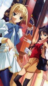 Fate-Zero.Saber (Arturia Pendragon).Rin Tohsaka.360x640