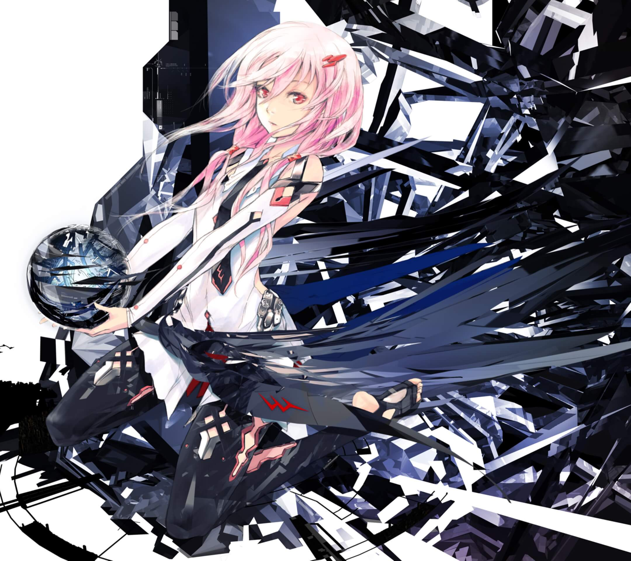 Guilty Crown Inori Yuzuriha.Android wallpaper 2160x1920