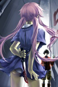 Mirai Nikki.Yuno Gasai.Yukiteru Amano.320x480 (4)