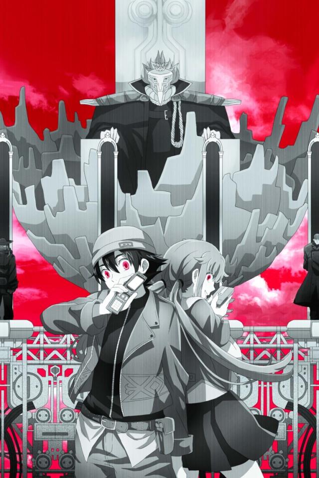Mirai Nikki.Yuno Gasai.Yukiteru Amano.Deus Ex Machina.640×960 – Kawaii Mobile