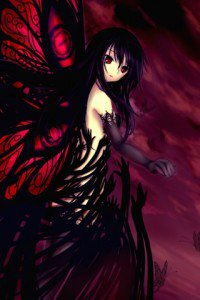 Accel World.Black Snow Princess Kuroyukihime Black Lotus.320x480