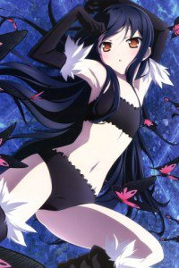 Accel World.Black Snow Princess Kuroyukihime Black Lotus.320x480 (6)