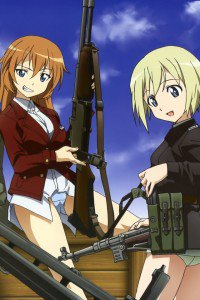 Strike Witches.Erica Hartmann.Charlotte E. Yeager.640x960