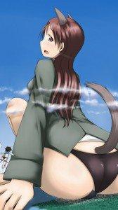 Strike Witches.Minna-Dietlinde Wilcke.Michiko Yamakawa.360x640