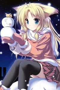 Christmas anime wallpaper.HTC Desire C wallpaper.320x480