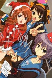 Christmas anime wallpaper.Haruhi Suzumiya Sony ST27i Xperia wallpaper.320x480