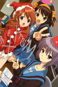 Christmas anime wallpaper.Haruhi Suzumiya iPhone 4 wallpaper.640x960