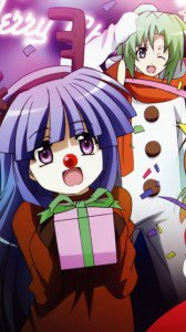 Christmas anime wallpaper.Higurashi Nokia 808 PureView wallpaper.360x640