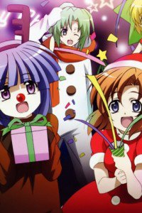 Christmas anime wallpaper.Higurashi Sony ST27i Xperia wallpaper.320x480
