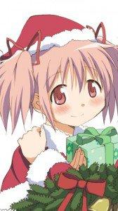 Christmas anime wallpaper.Madoka Nokia C6 wallpaper.360x640
