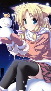 Christmas anime wallpaper.Nokia N8 wallpaper.360x640 (2)