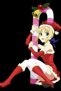 Christmas anime wallpaper.Saber Sony Ericsson E15i Xperia X8 wallpaper.320x480