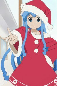 Christmas anime wallpaper.Sony ST23i Xperia wallpaper.320x480 (1)
