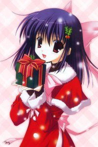 Christmas anime wallpaper.iPhone 4 wallpaper.640x960 (6)