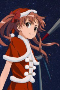 Christmas anime wallpaper.iPod wallpaper.320x480