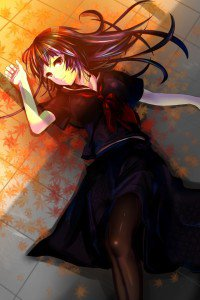 Tasogare Otome x Amnesia.Yuko Kanoe iPhone 4 wallpaper.640x960 (1)