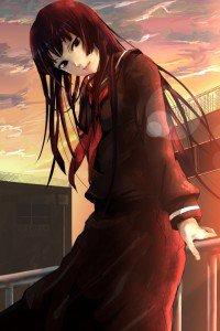 Tasogare Otome x Amnesia.Yuko Kanoe iPhone 4 wallpaper.640x960 (6)