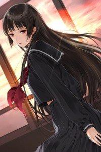 Tasogare Otome x Amnesia.Yuko Kanoe iPhone 4 wallpaper.640x960 (9)
