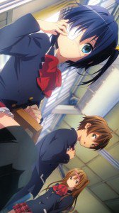 Chunibyo Demo Koi ga Shitai.Yuta Togashi.Rikka Takanashi.Shinka Nibutani HTC Windows Phone 8X wallpaper.720x1280