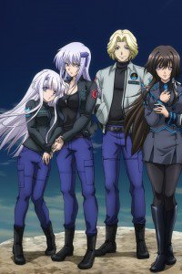 Muv-Luv Alternative Total Eclipse.Yui Takamura.Vincent Lowell.Cryska Barchenowa.Inia Sestina iPhone 4 wallpaper.640x960