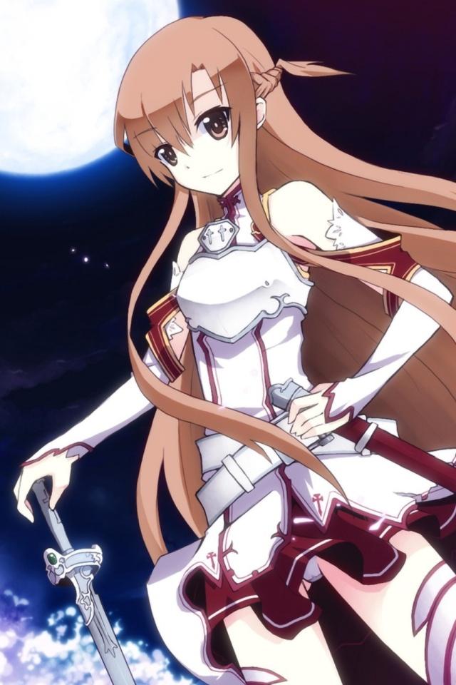 Sword Art OnlineAsuna IPhone 4 Wallpaper640x960 1