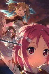 Sword Art Online.Asuna.Silica iPhone 4 wallpaper.Lizbeth.640x960