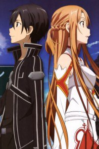 Sword Art Online.Kirito Fly IQ256 wallpaper.Asuna.320x480